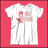 MISSY NURSE T-SHIRT • URINE TROUBLE! • Funny Nurse Tee! LMAO! - MSST-4444 - Rhino Junction Apparel - 2