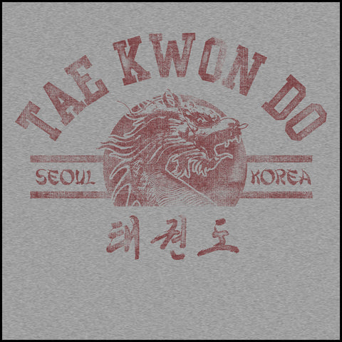 Vintage RETRO Taekwondo T-Shirt- Retro Dragon- AST-407 - Rhino Junction Apparel - 1