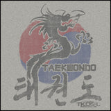 VINTAGE DRAGON TAEKWONDO T-SHIRT - DRAGON FADE! - ASST430 - Rhino Junction Apparel - 1