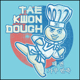 Dough Boy Parody Taekwondo Design- TAEKWONDO T-SHIRT - Tae Kwon DOUGH- YSST442 - Rhino Junction Apparel - 1