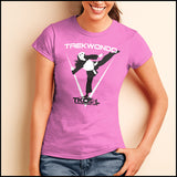 THE GIRL CAN KICK!  TAEKWONDO T-SHIRT -Tournament Style! - JST452 - Rhino Junction Apparel - 4
