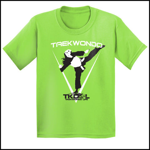 THE GIRL CAN KICK!  GREAT GIFT TAEKWONDO T-SHIRT -Tournament Style! - YGST452 - Rhino Junction Apparel - 3