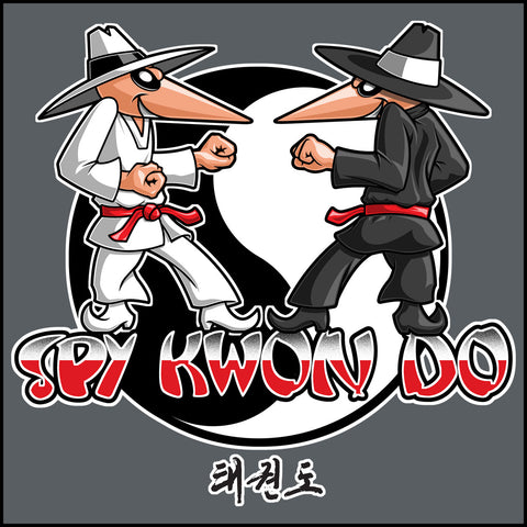 SPY KWON DO! -TAEKWONDO T-SHIRT - SPY KWON DO PARODY- MST446 - Rhino Junction Apparel - 1