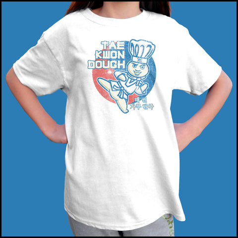 Dough Boy Parody Taekwondo Design- TAEKWONDO T-SHIRT - Tae Kwon DOUGH- YSST442 - Rhino Junction Apparel - 4