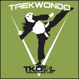THE GIRL CAN KICK!  TAEKWONDO T-SHIRT -Tournament Style! - JST452 - Rhino Junction Apparel - 1