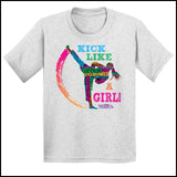 GIRL KICK! - TAEKWONDO T-SHIRT GREAT GIFT -Yes!- Kick Like a Girl! -YGSS-419 - Rhino Junction Apparel - 3