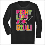Fight Like Girl!-Taekwondo Karate Kung Fu Jiu-Jitsu MMA Tshirt -YGLS434 - Rhino Junction Apparel - 3