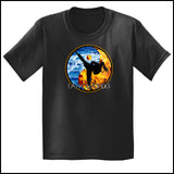 Fire VS Water - TAEKWONDO T-SHIRT - Um-Yang / Yin-Yang Design - YGSS-427 - Rhino Junction Apparel - 2
