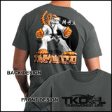 TIGER FISTS! -Taekwondo T-Shirt -AWESOME GRAPHIC! -AST-405 - Rhino Junction Apparel - 2