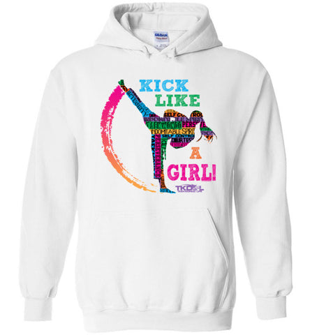 Kick Like a Girl! - Taekwondo Hoody -YHDY419