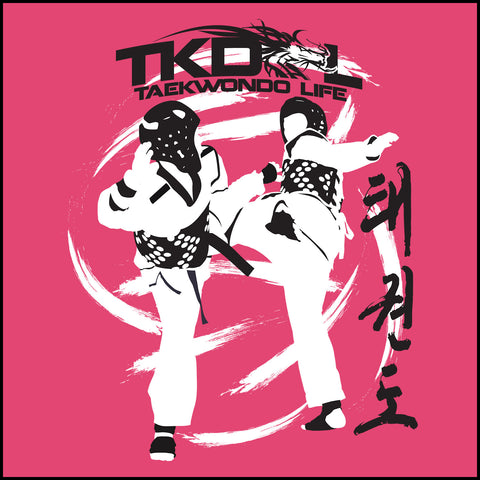 SPIN KICKS! Taekwondo T-Shirt -Bold Graphic! FREE SHIPPING-MST-428 - Rhino Junction Apparel - 1