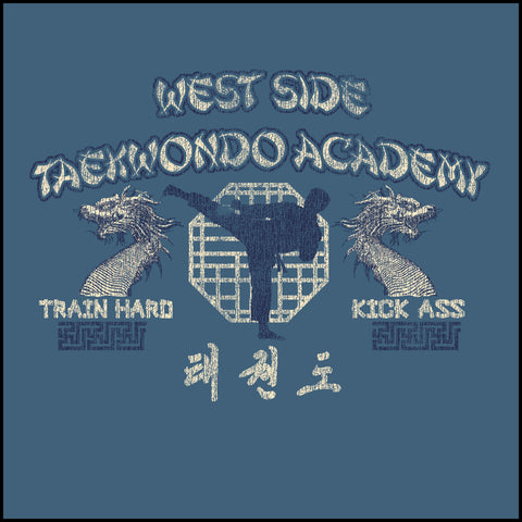Retro Taekwondo T-Shirt- West Side Taekwondo -FREE SHIPPING! AST-409 - Rhino Junction Apparel - 1