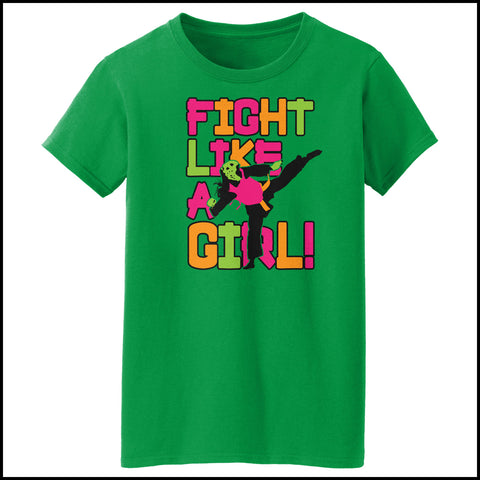 Fight Like Girl!-Taekwondo Karate Kung Fu Jiu-Jitsu MMA Tshirt  - MST434 - Rhino Junction Apparel - 4