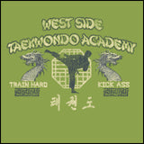 Retro Taekwondo T-Shirt- West Side Taekwondo -FREE SHIPPING JST-409 - Rhino Junction Apparel - 1