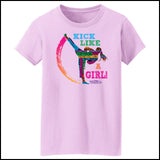 GIRL KICK! - TAEKWONDO T-SHIRT -Yes!- Kick Like a Girl! -MST-419 - Rhino Junction Apparel - 3