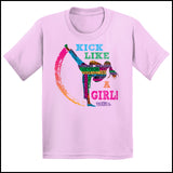 GIRL KICK! - TAEKWONDO T-SHIRT GREAT GIFT -Yes!- Kick Like a Girl! -YGSS-419 - Rhino Junction Apparel - 2
