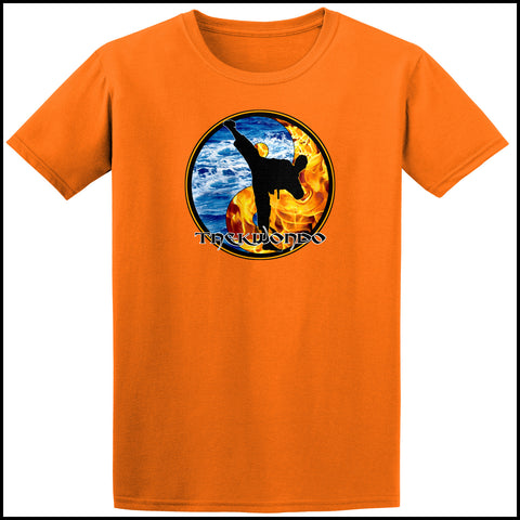 Fire VS Water- TAEKWONDO T-SHIRT - Yin Yang Design - AST426 - Rhino Junction Apparel - 3