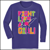 Fight Like Girl!-Taekwondo Karate Kung Fu Jiu-Jitsu MMA Tshirt -YGLS434 - Rhino Junction Apparel - 4