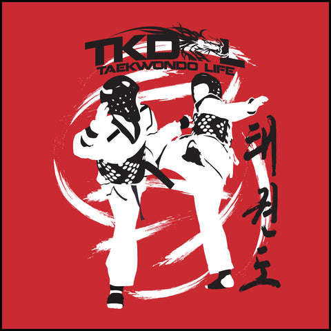 SPIN KICKS! Taekwondo LST T-Shirt  - Bold Graphic!- FREE SHIPPING-YLST-428 - Rhino Junction Apparel - 1