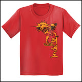 Taekwondo T-Shirt -Spinning Head Kick Design! - It Rocks!  YSST-436 - Rhino Junction Apparel - 2