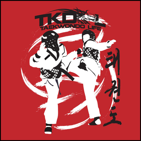 SPIN KICKS! Taekwondo SST T-Shirt  - Bold Graphic!- FREE SHIPPING-YSST-428 - Rhino Junction Apparel - 1