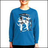 SPIN KICKS! Taekwondo LST T-Shirt  - Bold Graphic!- FREE SHIPPING-YLST-428 - Rhino Junction Apparel - 3