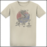 VINTAGE DRAGON TAEKWONDO T-SHIRT - DRAGON FADE! - ASST430 - Rhino Junction Apparel - 3