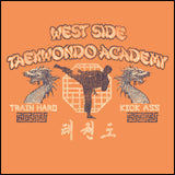 Retro Taekwondo T-Shirt- West Side Taekwondo -FREE SHIPPING-MST-409 - Rhino Junction Apparel - 1