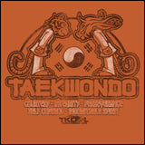 Taekwondo T-Shirt -Tiger & Dragon Bowing Vintage Design!- YSST-437 - Rhino Junction Apparel - 1