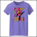 Fight Like Girl!-Taekwondo Karate Kung Fu Jiu-Jitsu MMA Tshirt  - MST434 - Rhino Junction Apparel - 2