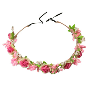 Strawberry Floral Hair Wreath - Crochita - 1