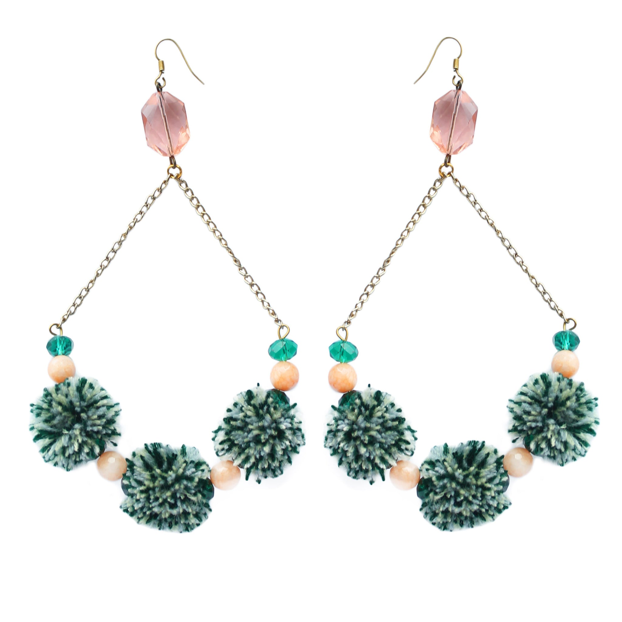 Aphrodite Pom Pom Earrings