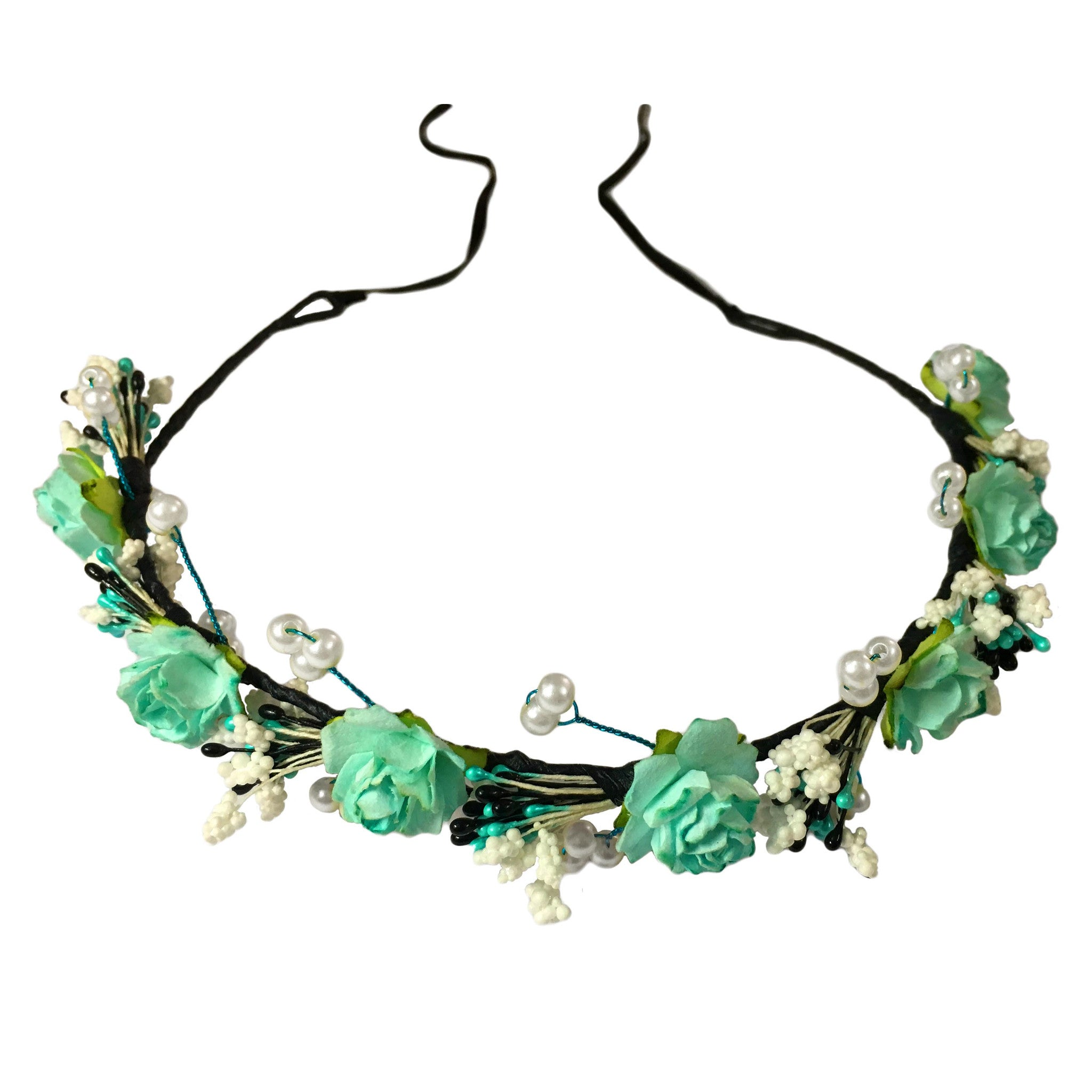 Mariosa Floral Hair Wreath - Crochita - 1