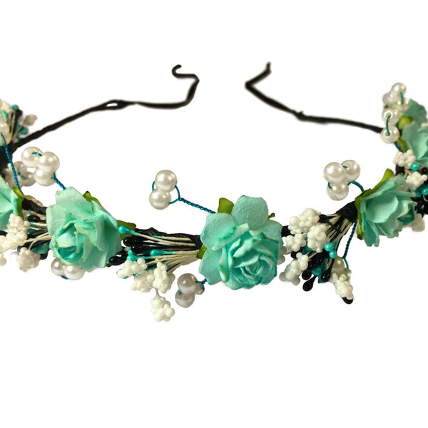 Mariosa Floral Hair Wreath - Crochita - 2