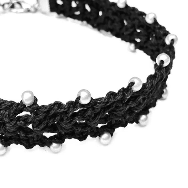 Crochet Black Choker Necklace - Crochita - 2