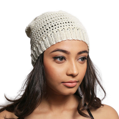 Creamy wonder Slouch Beanie Hat - Crochita - 1