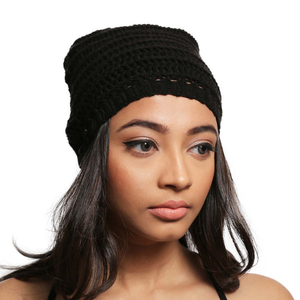 Dark Dreams Slouch Beanie Hat - Crochita - 1