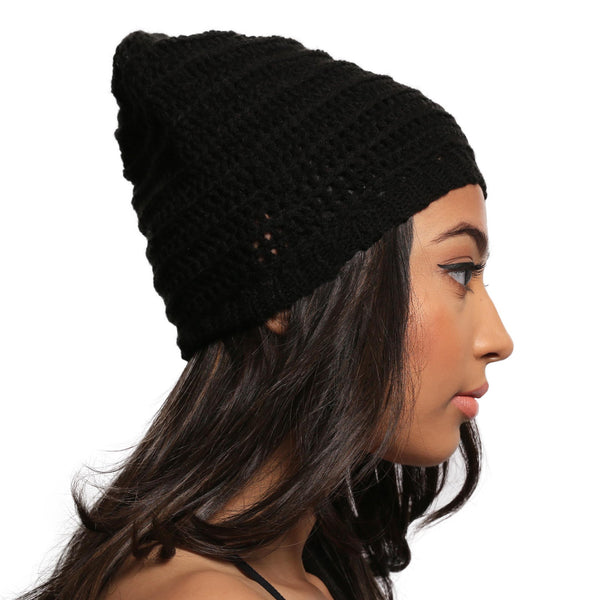 Dark Dreams Slouch Beanie Hat - Crochita - 2
