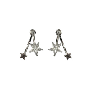 Dual Star Earrings - Crochita - 1