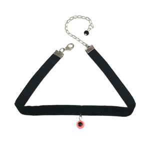 Pink Evil Eye Charm Choker  Necklace - Crochita - 1
