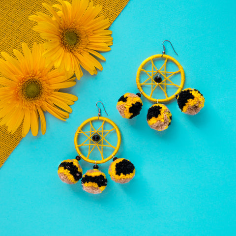 Tigress Pom Pom Earrings