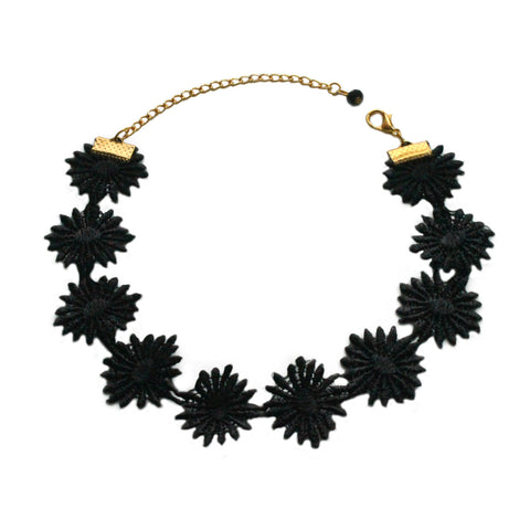 Posei Lace Black Choker  Necklace - Crochita - 1