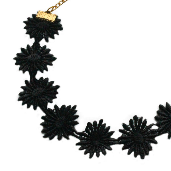 Posei Lace Black Choker  Necklace - Crochita - 2
