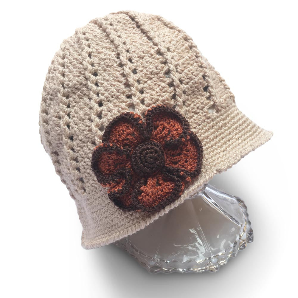 Cream Bisque Handmade Crochet Clouche Hat - Crochita - 1