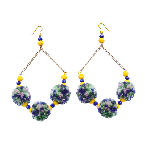 Electra Pom Pom Earrings