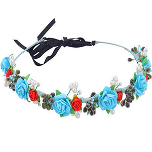 Drizella Floral Hair Wreath - Crochita