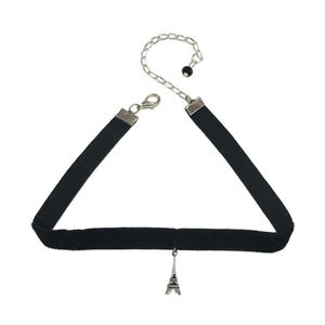 Eiffel Tower Charm Choker  Necklace - Crochita - 1