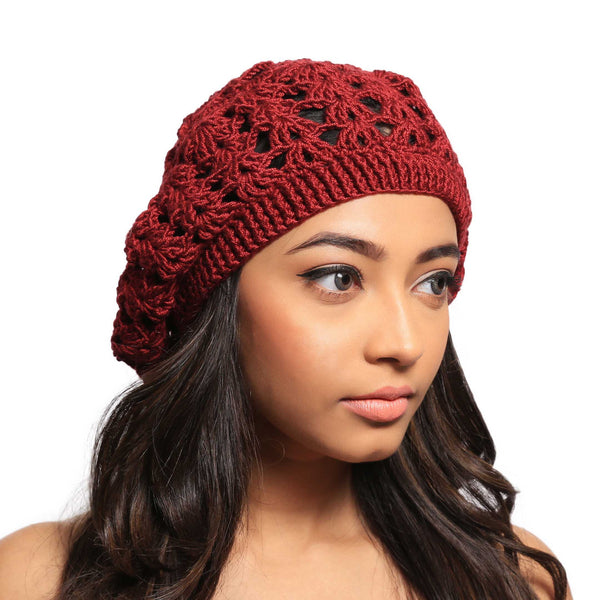 Unicorn Blood Crochet Handmade Woollen Beret Hat - Crochita - 1