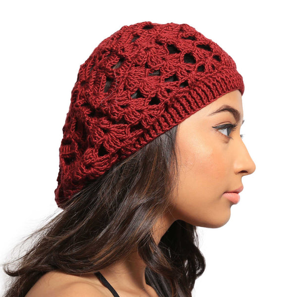 Unicorn Blood Crochet Handmade Woollen Beret Hat - Crochita - 2