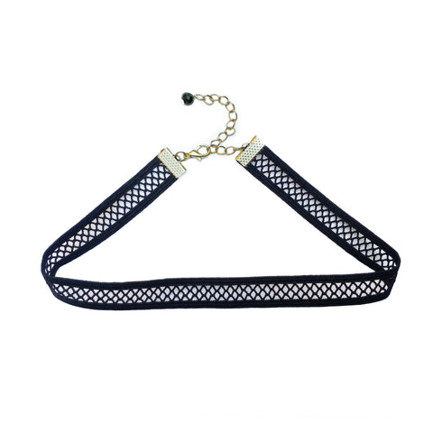Fishnet Stretch Choker Necklace